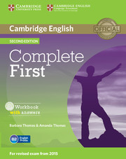 Complete First 2nd Edition Workbook with answers with Audio CD