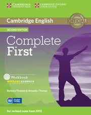 Complete First 2nd Edition Workbook without answers with Audio CD